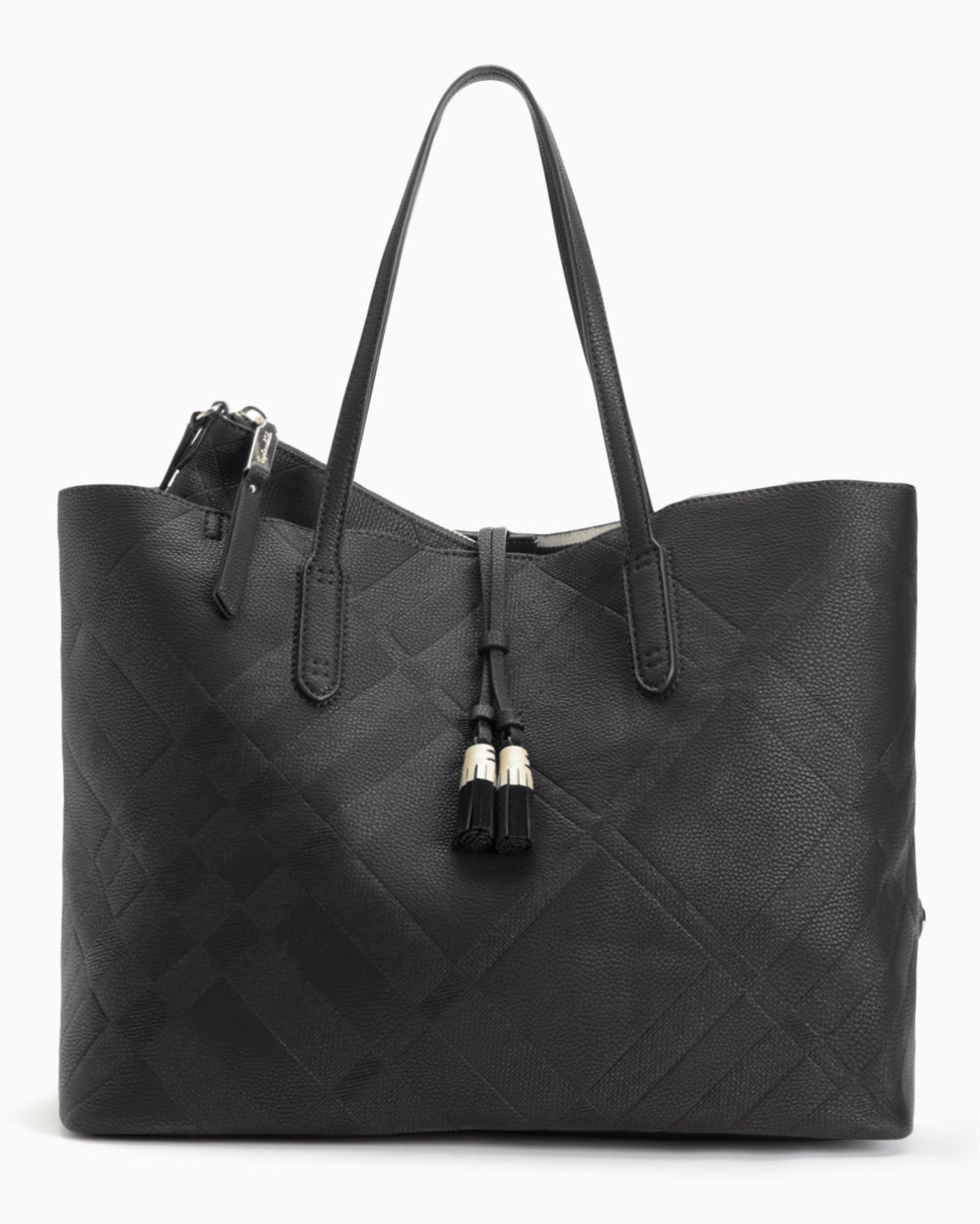 Splendid Women's Key Largo Embossed Plaid Tote