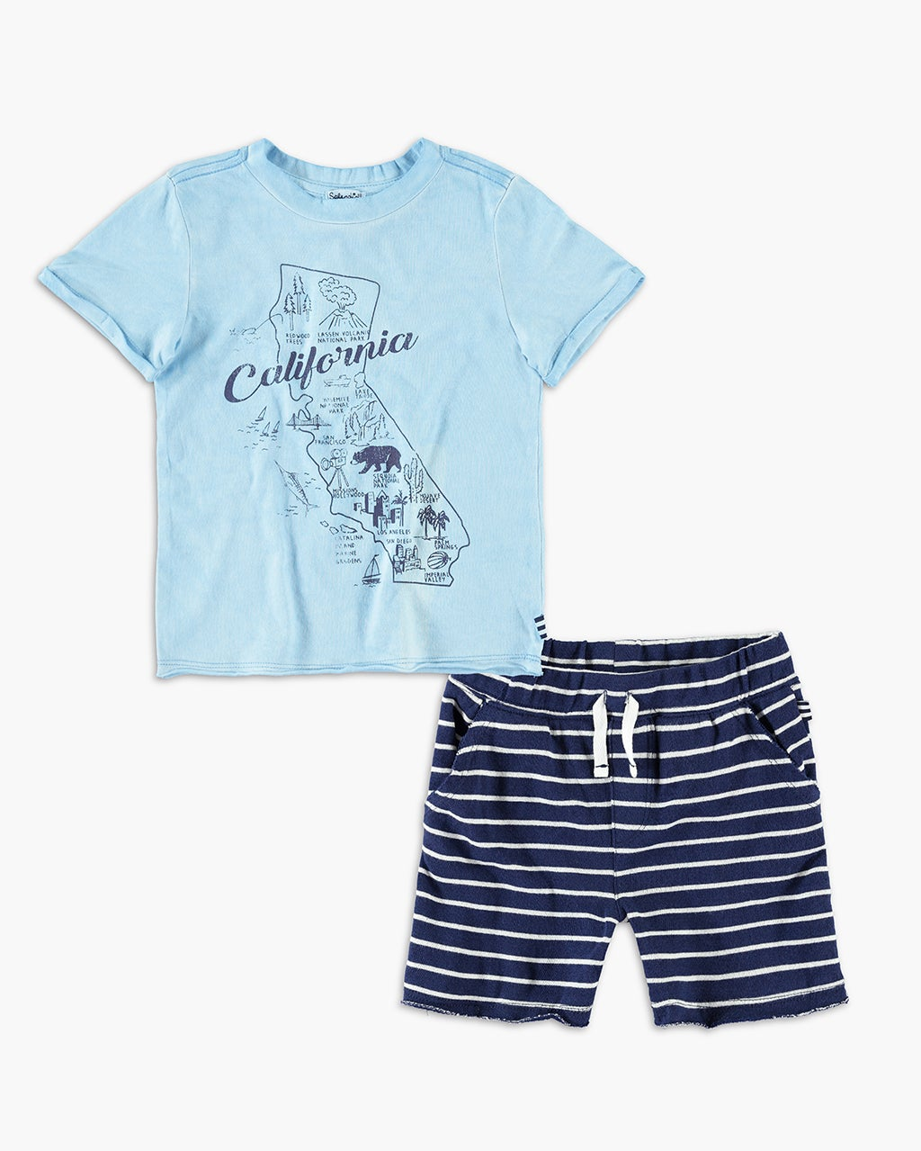 Splendid Baby Boy California Tee Set