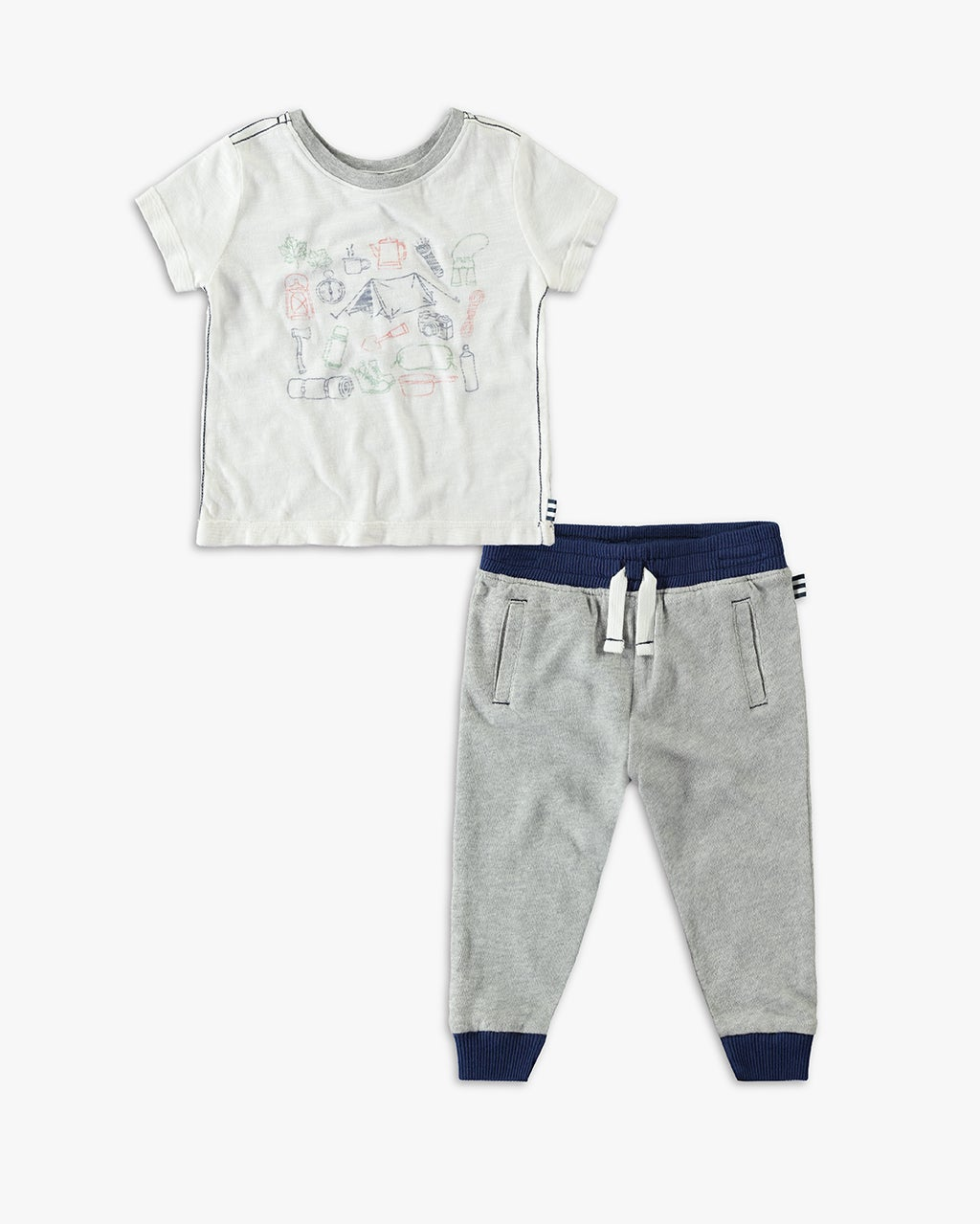 Splendid Baby Boy Screen Tee Set