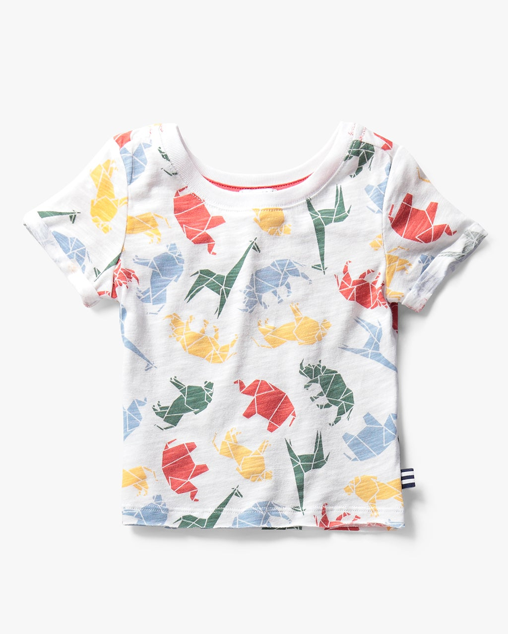 Splendid Girl Origami All Over Print Tee