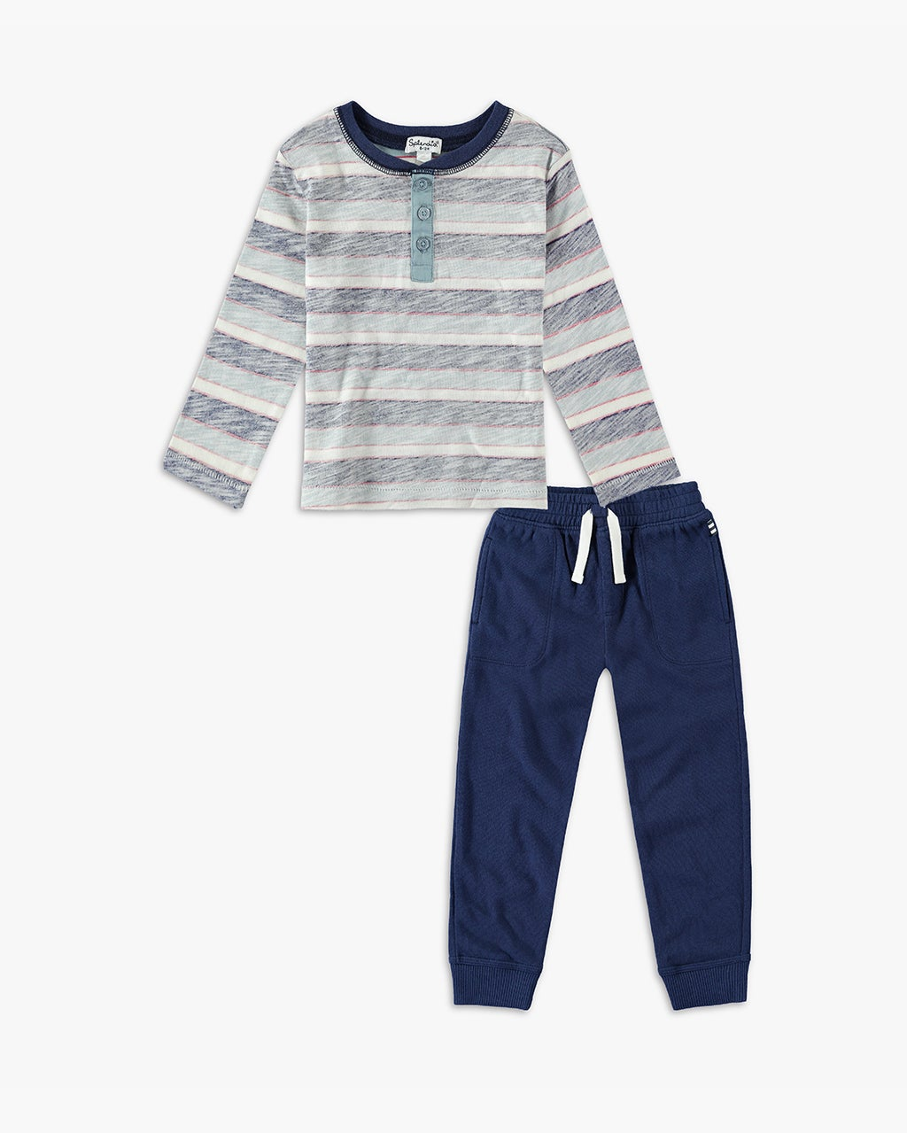Splendid Little Boy Reverse Stripe Long Sleeve Set
