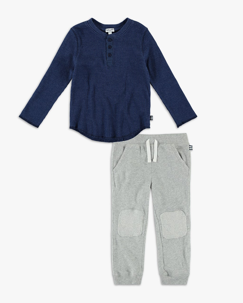 Splendid Little Boy Henley Waffle Knit Set
