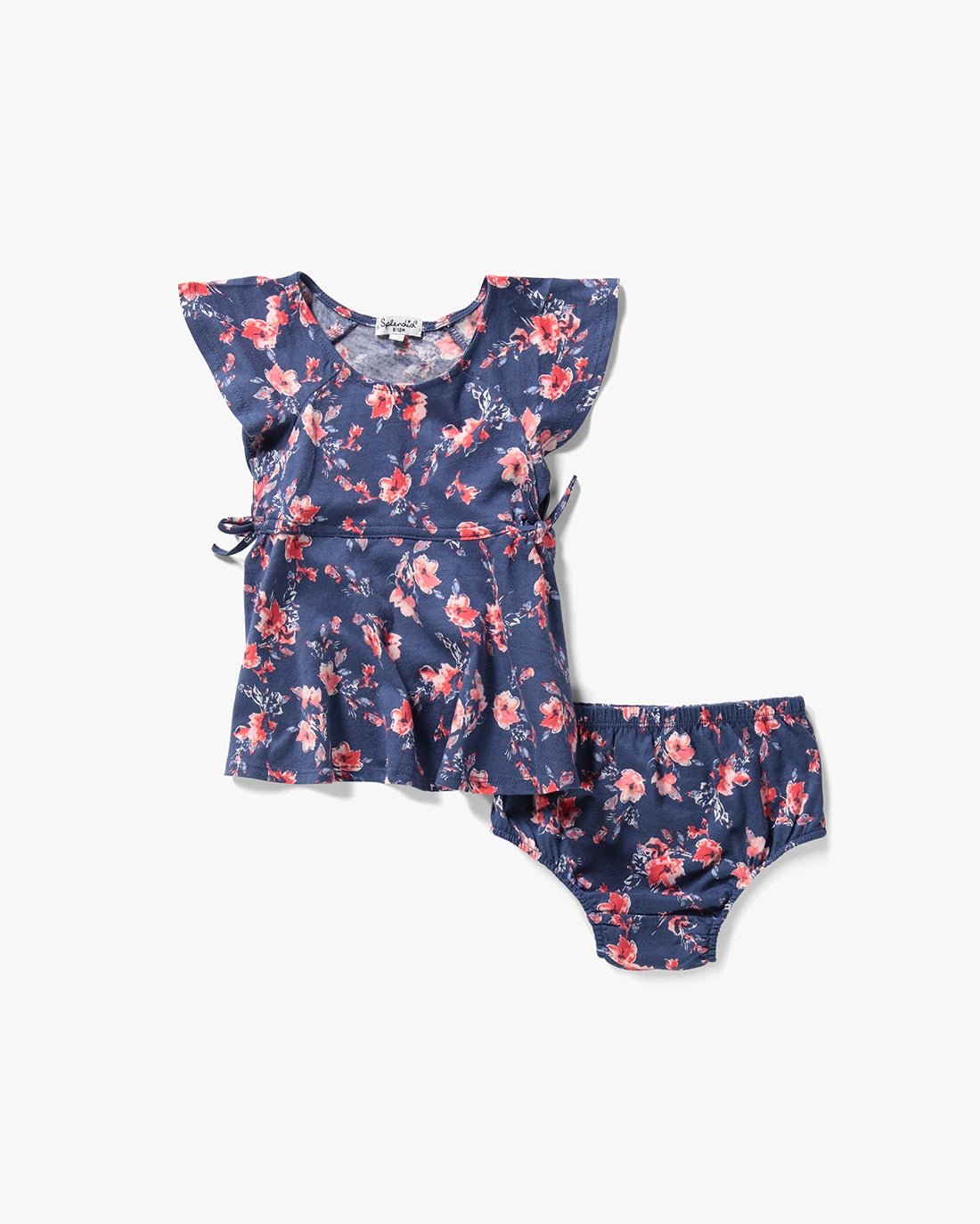 Splendid Little Girl Floral Print Ruffle