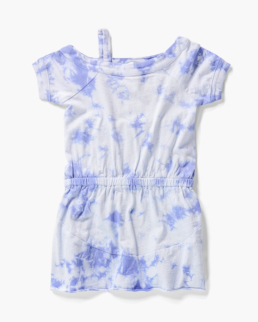 Splendid Little Girl One Shoulder Tie Dye Dress