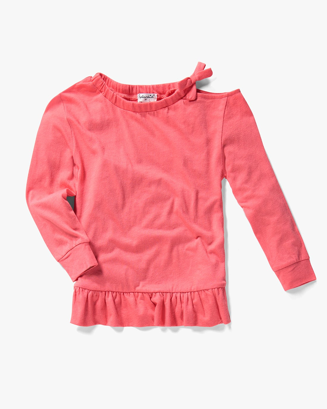 Splendid Little Girl Cold Shouler Top Set