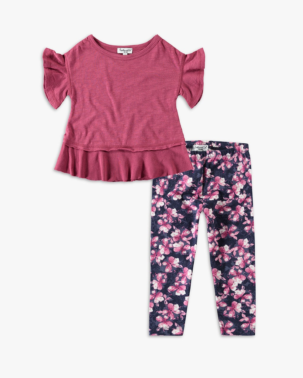 Splendid Little Girl Flounce Top Set