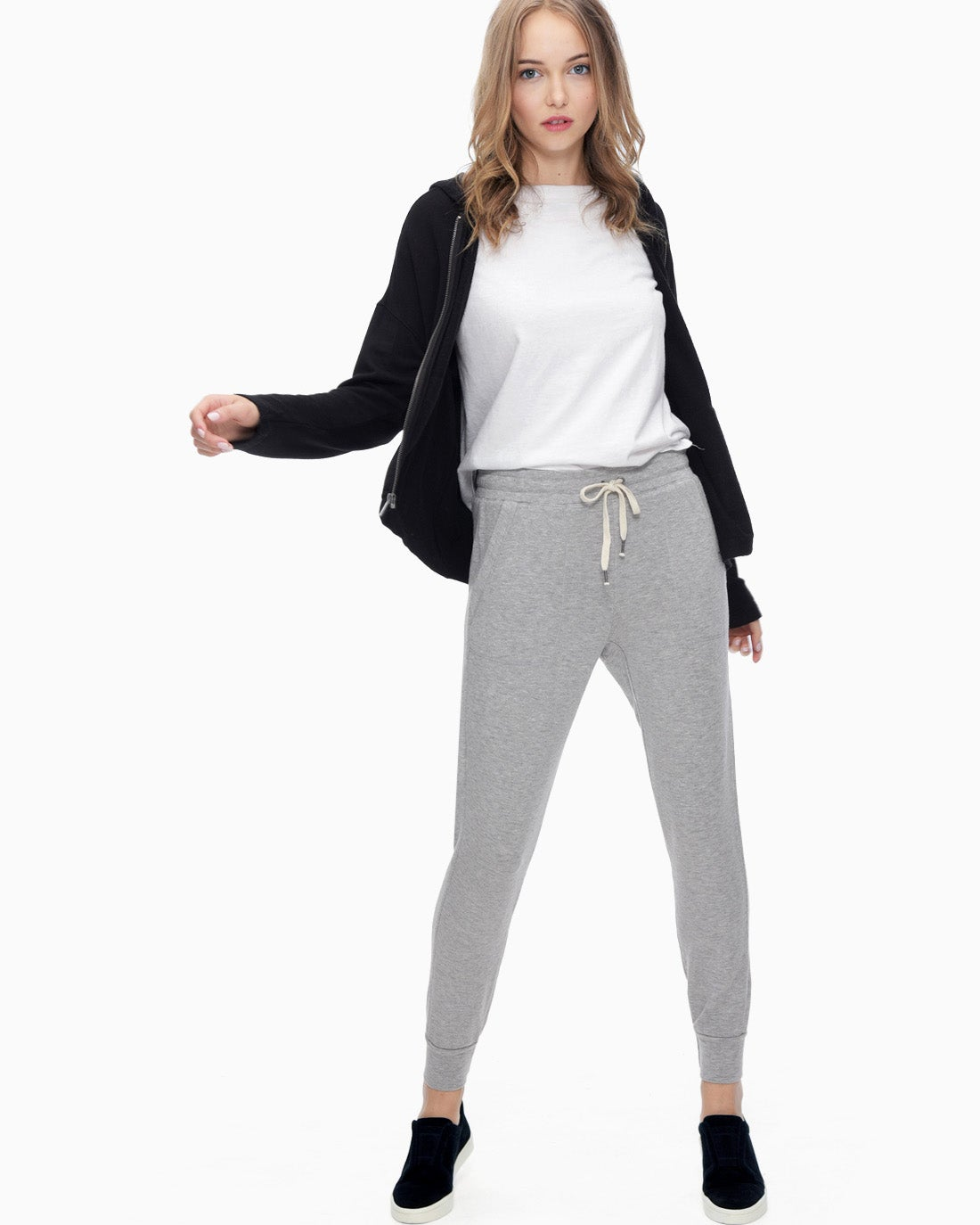 Splendid Women's Super Soft Brushed French Terry Jogger Heather Grey