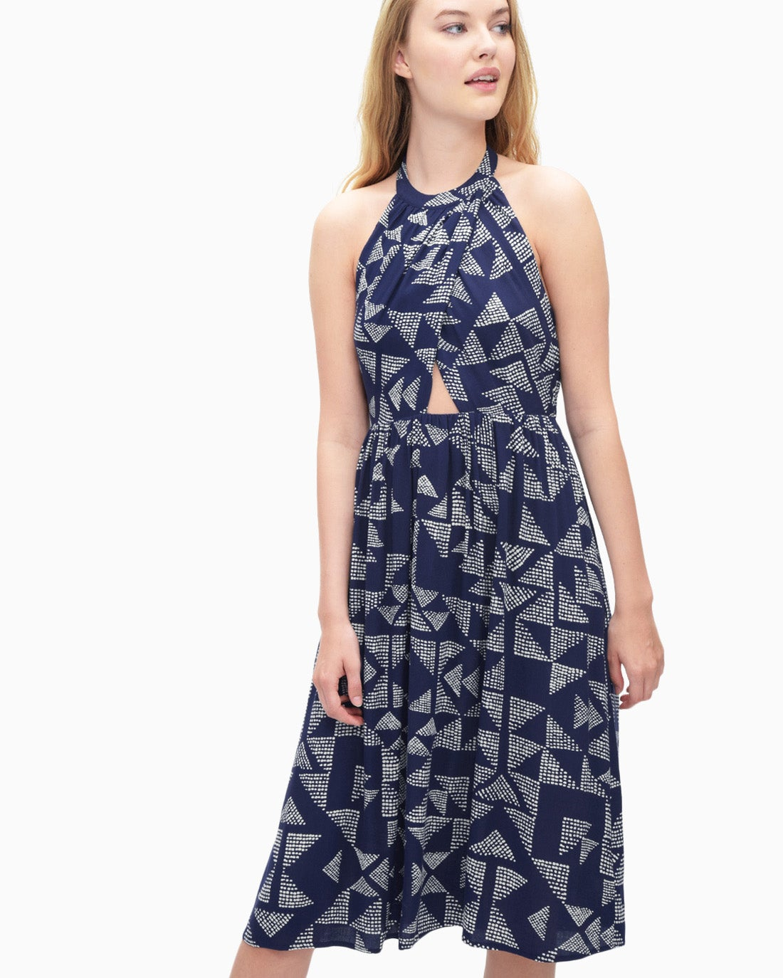 Splendid Women's Sail Print Halter Dress