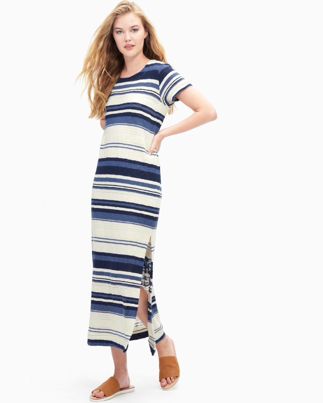 Splendid Women's Stripe Maxi T-Shirt Dress