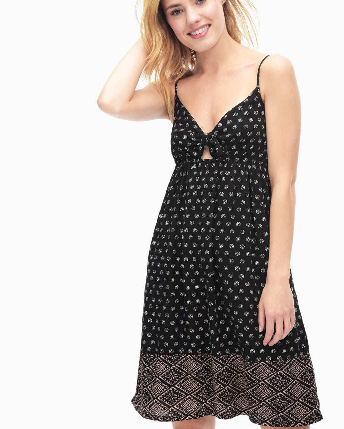 Splendid Women's Island Stamp Print Twist Front Dress