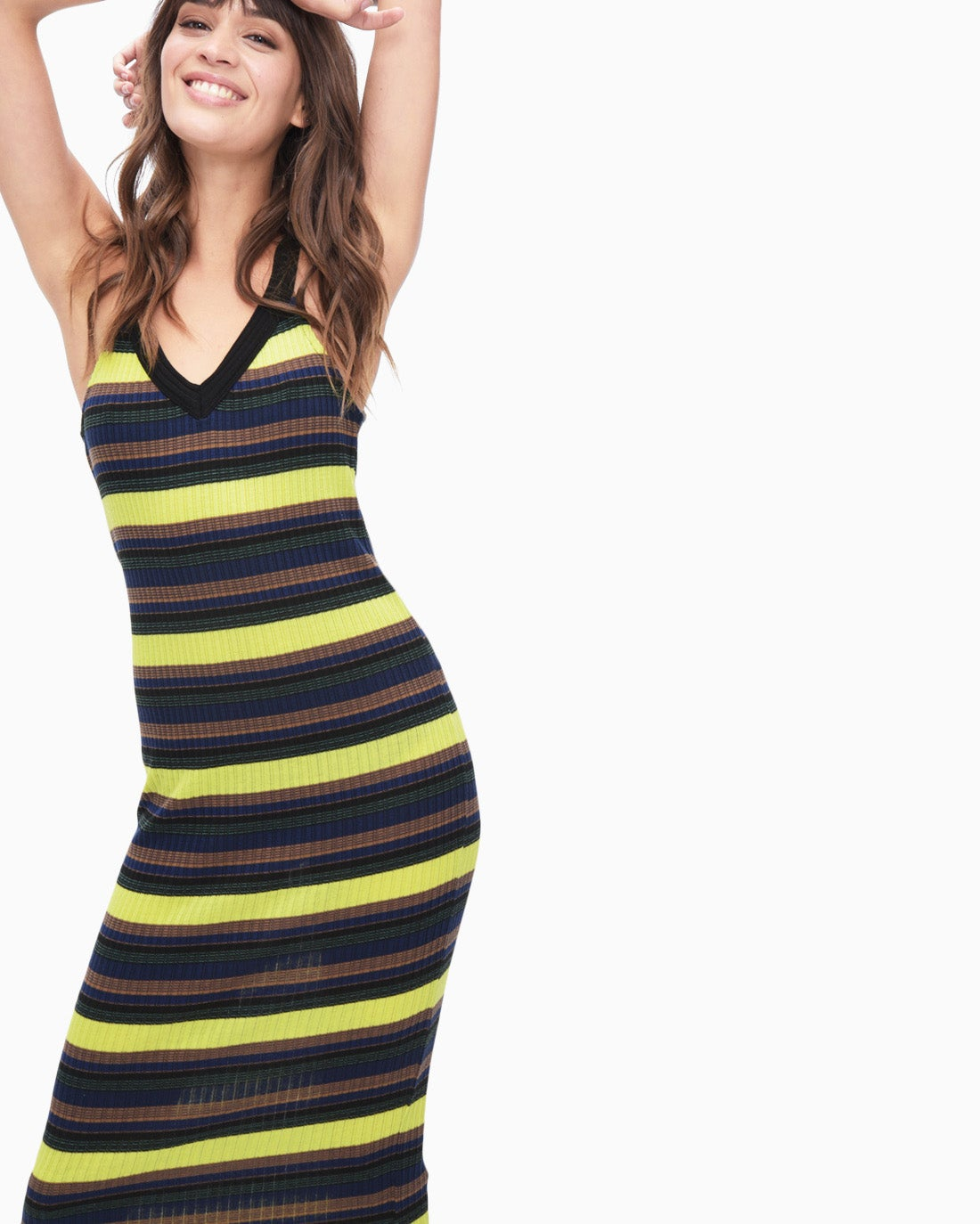 Splendid Women's Jungle Stripe V-Neck Dress