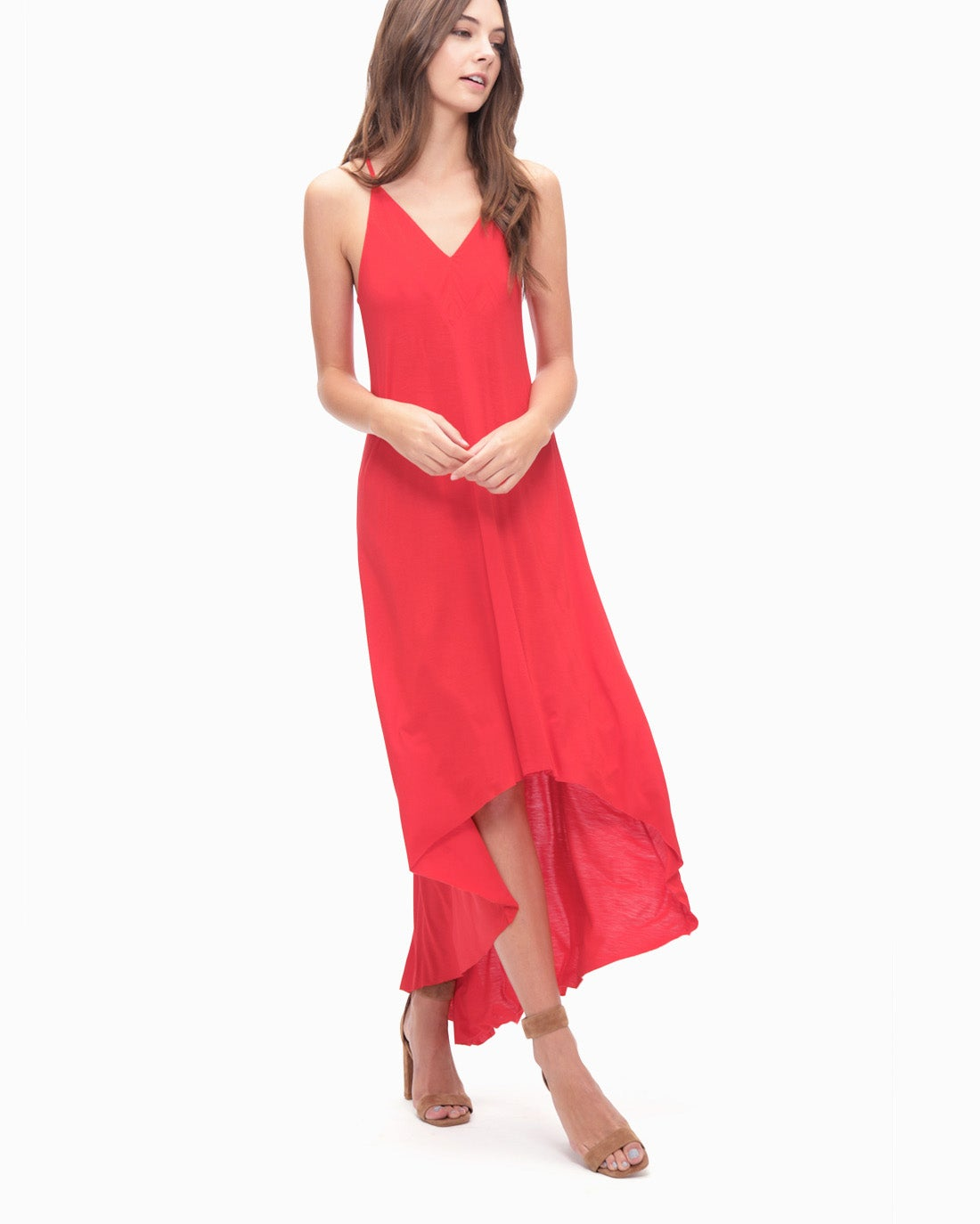 Splendid Women's Rayon Jersey V-Neck Dress