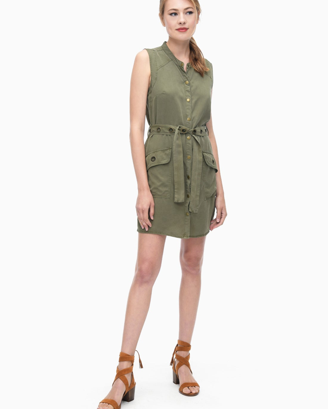 Splendid Women's Wilder Tencel Button Down Dress