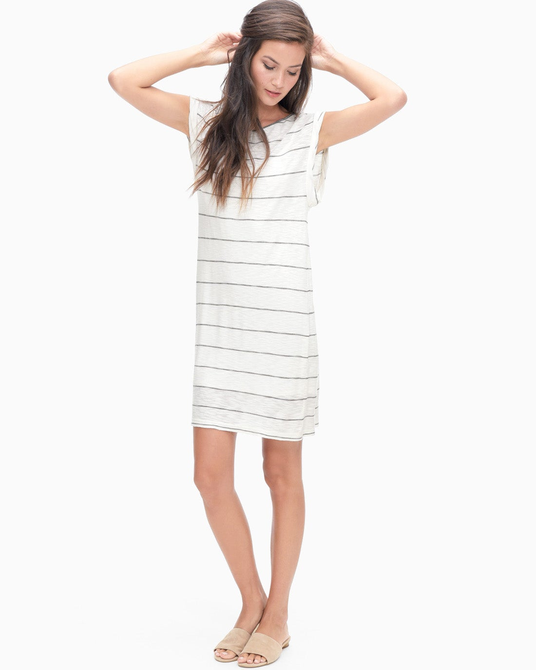 Splendid Women's Panama Stripe Twist Sleeve Dress