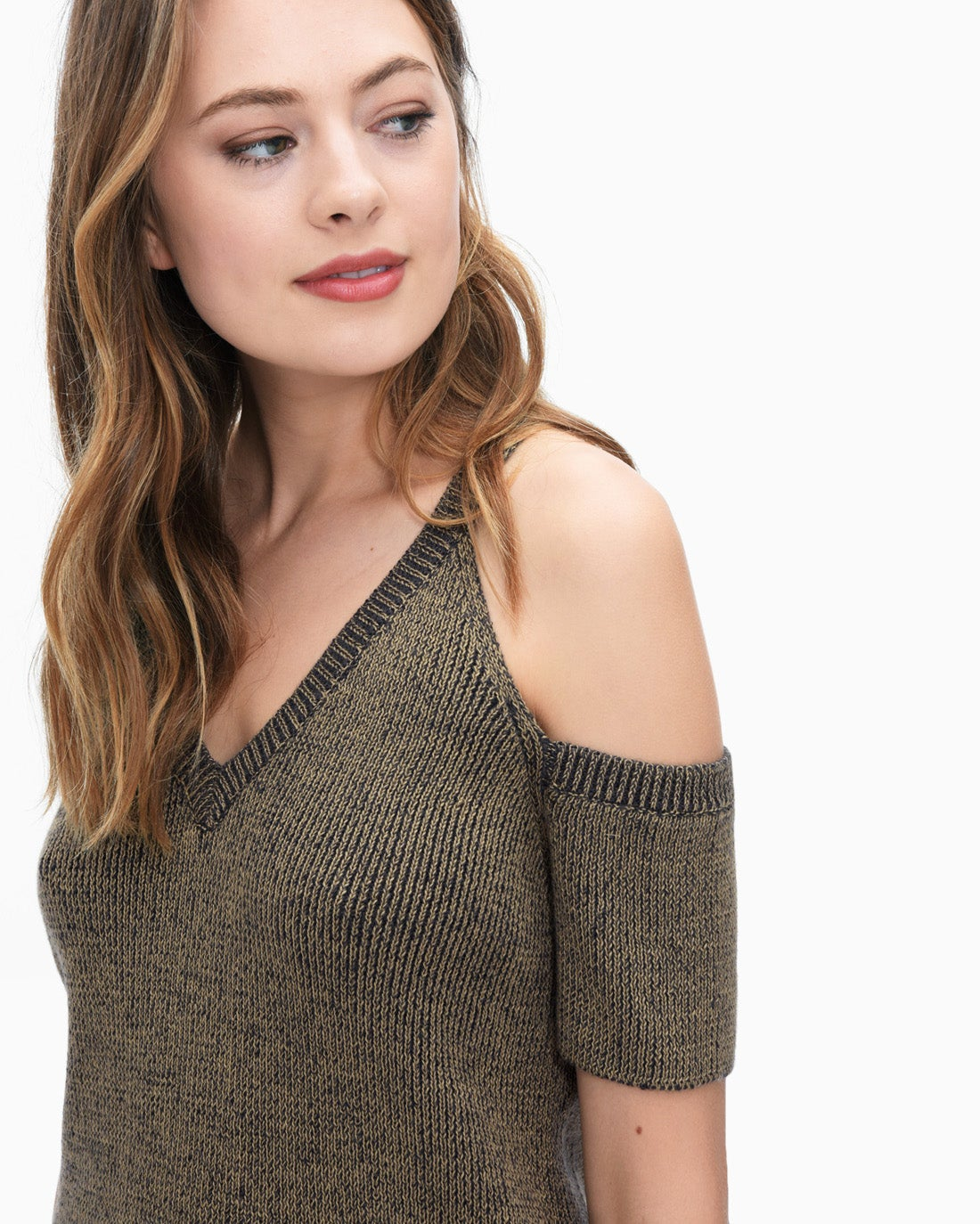 Splendid Women's Surrey Marl Cold Shoulder Pullover