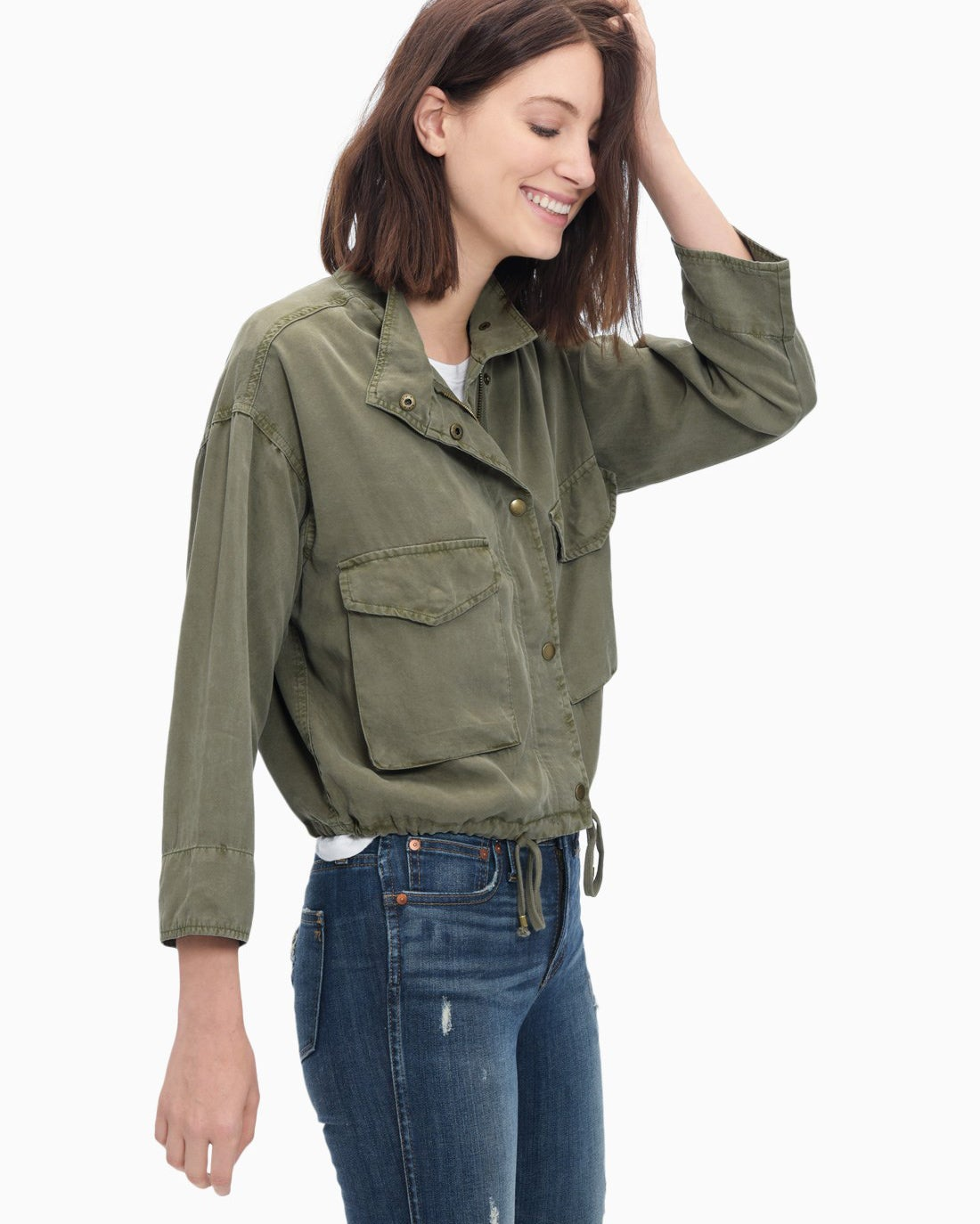 Splendid Women's Wilder Tencel Cropped Military Jacket