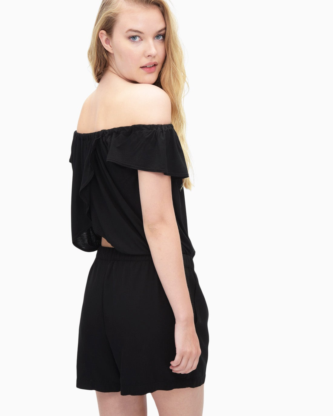 Splendid Women's Off Shoulder Romper