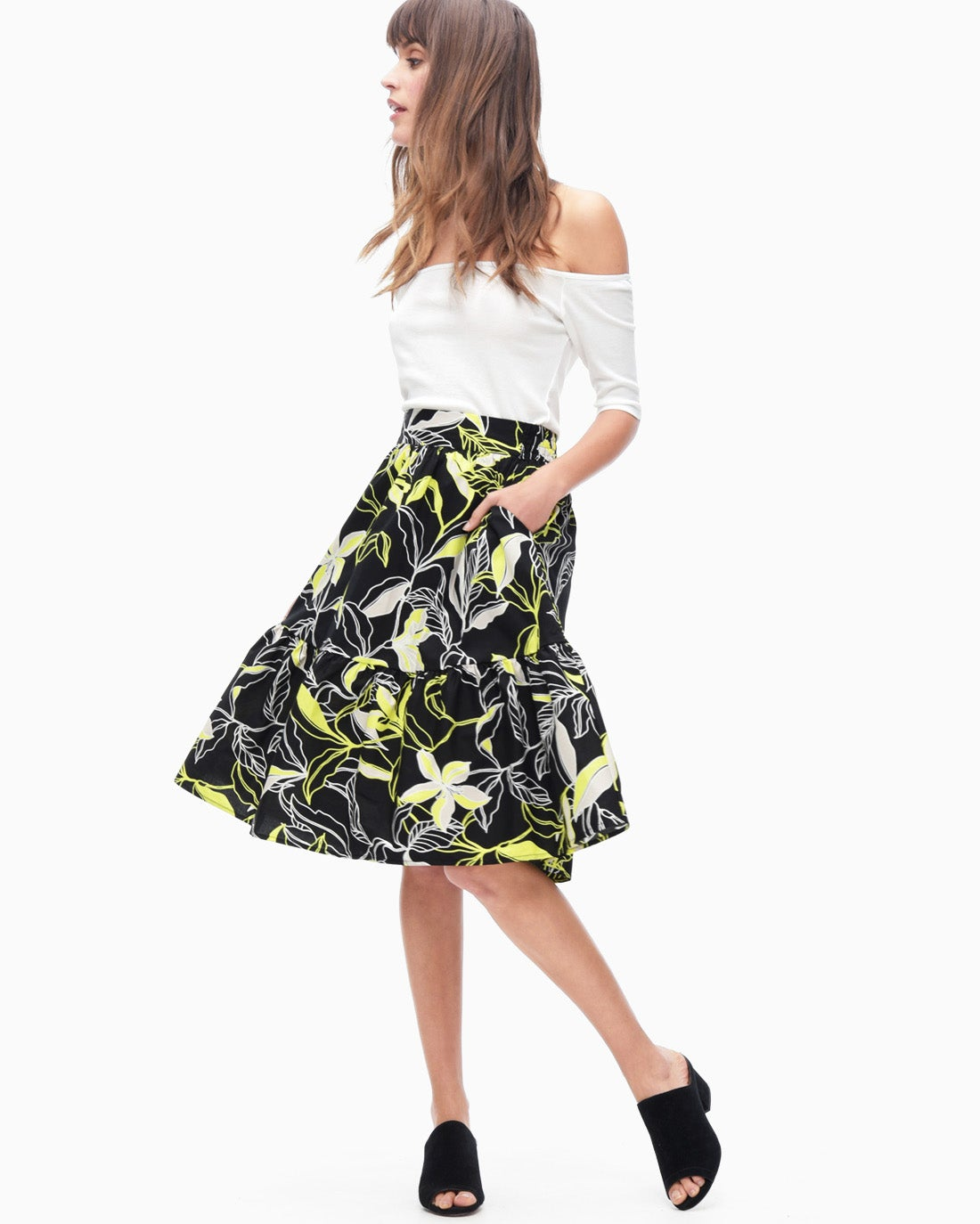 Splendid Women's Tropic Floral Skirt