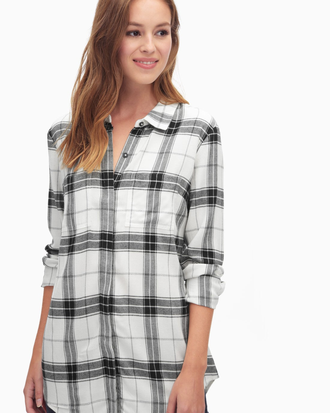 Splendid Women's Eastridge Rayon Plaid Shirt