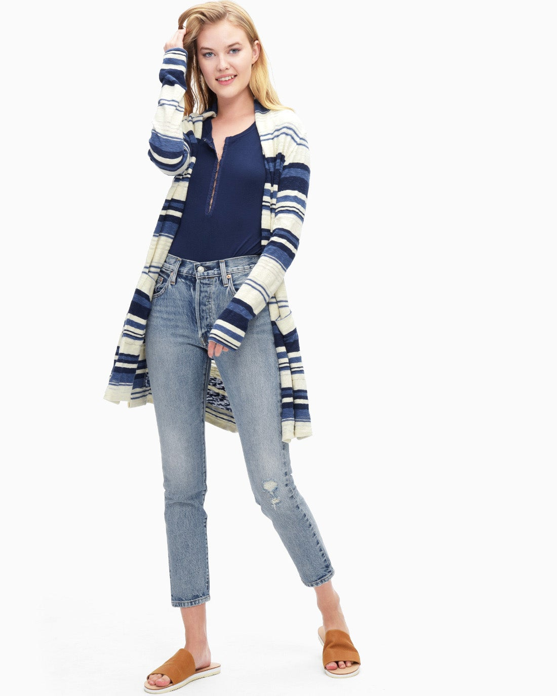Splendid Women's Stripe Caftan Cardigan