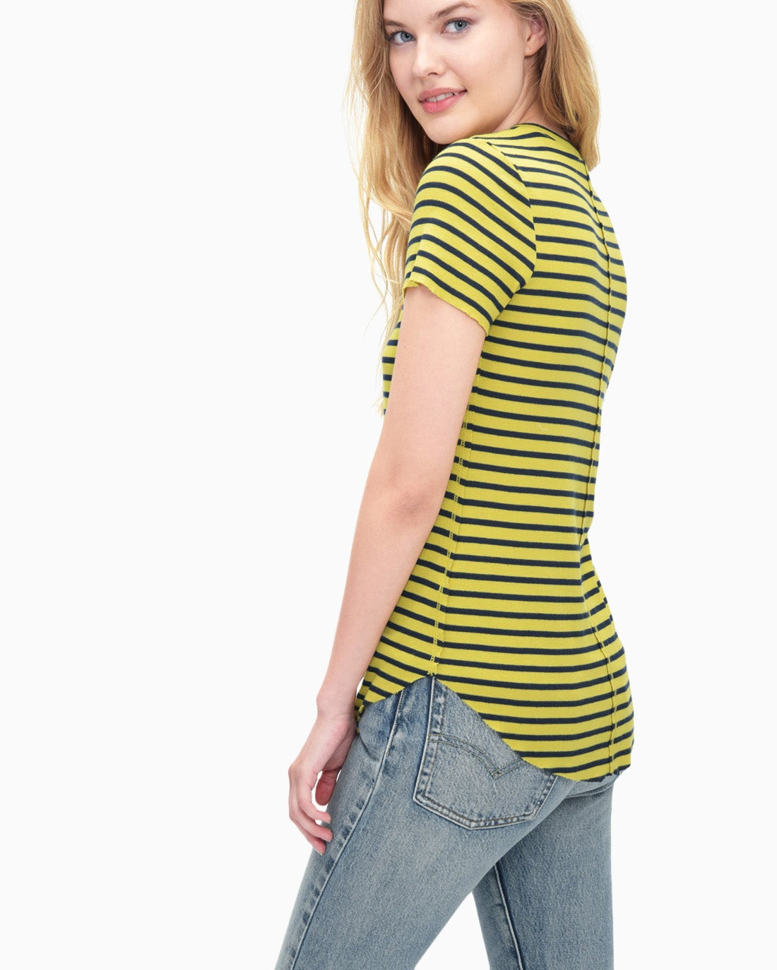 Splendid Women's 1x1 Venice Stripe Crew Neck Top