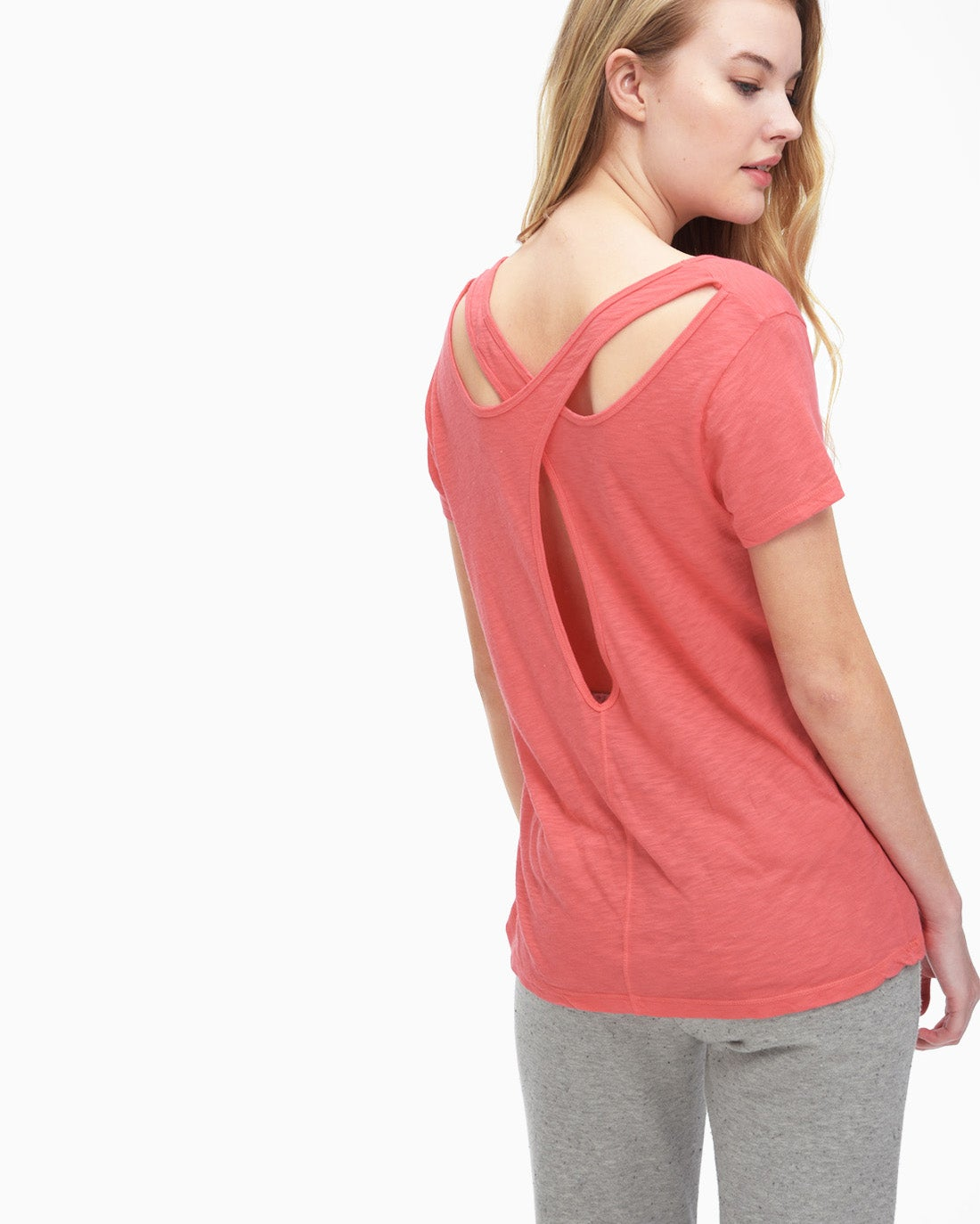 Splendid Women's Slub Cutout Tee