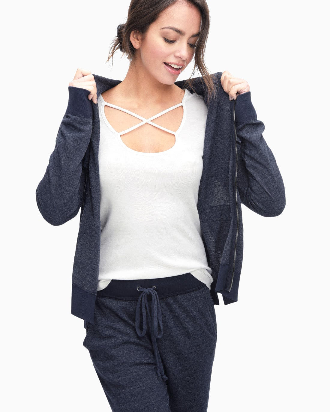 Splendid Women's Active Zip Up Hoodie