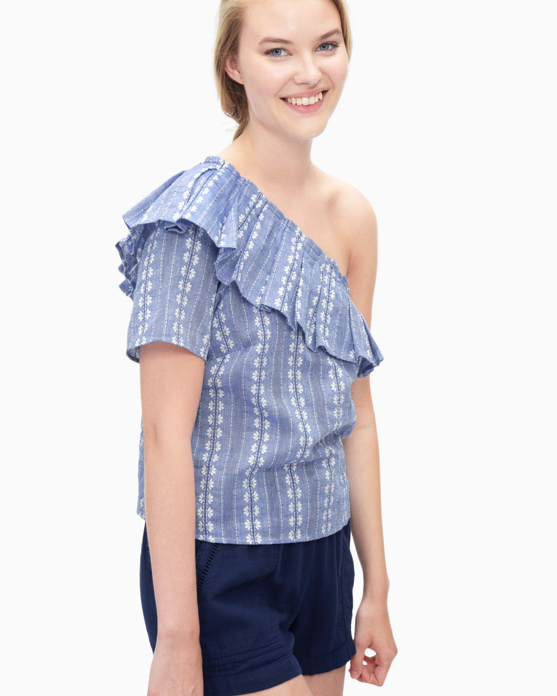 Splendid Women's Chambray One Shoulder Top