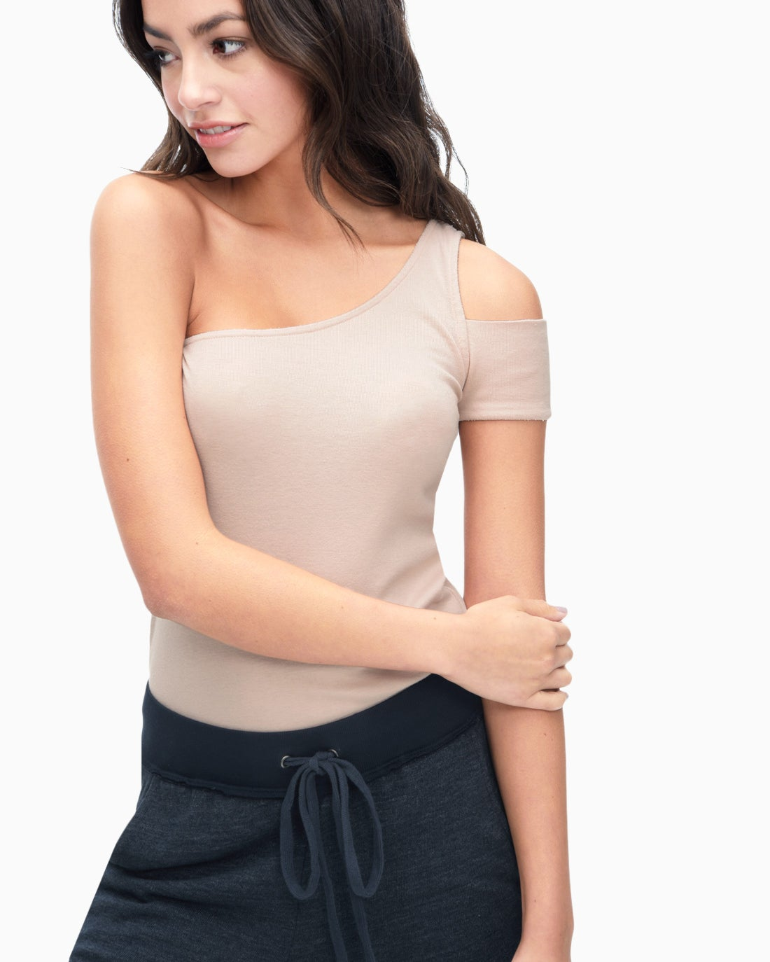 Splendid Women's 1X1 One Shoulder Top