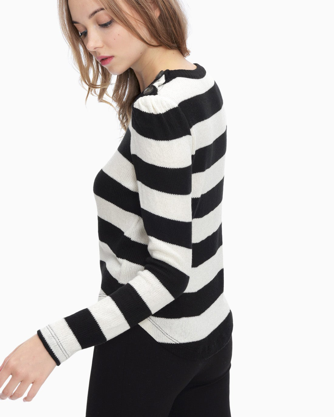 Splendid Women's Kingston Rugby Stripe Button Top