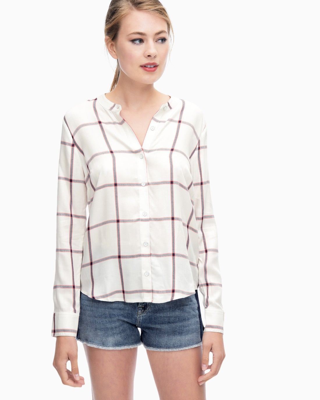Splendid Women's Reily Plaid Button Up Shirt