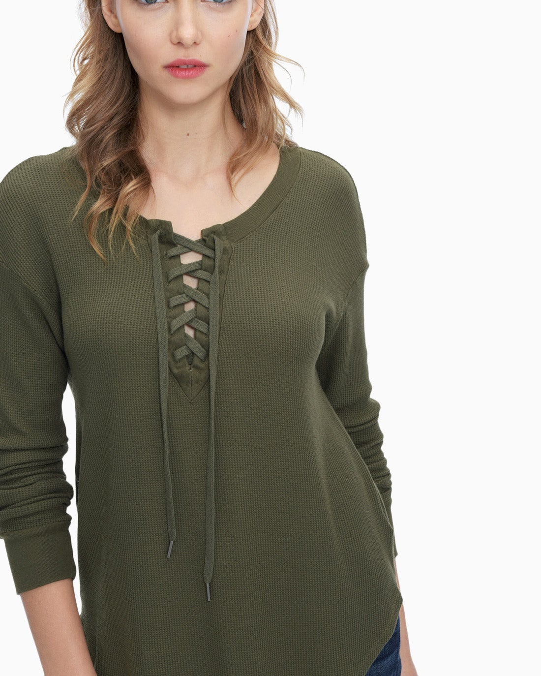 Splendid Women's Thermal Lace Up Tunic