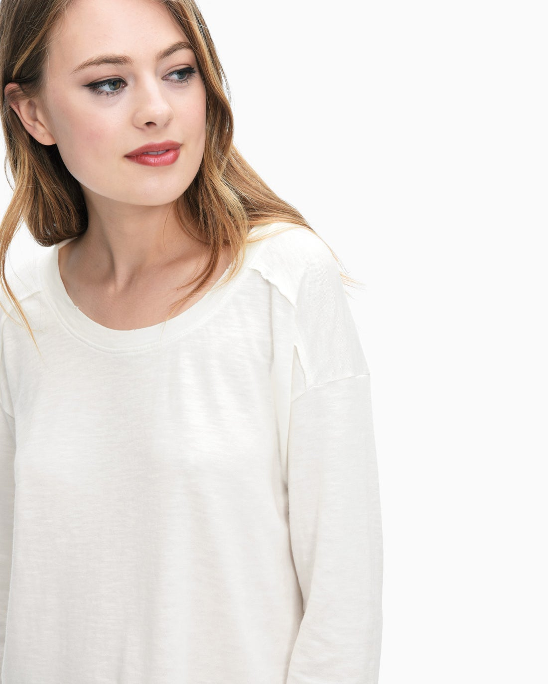 Splendid Women's Cotton Slub Sweatshirt Tee
