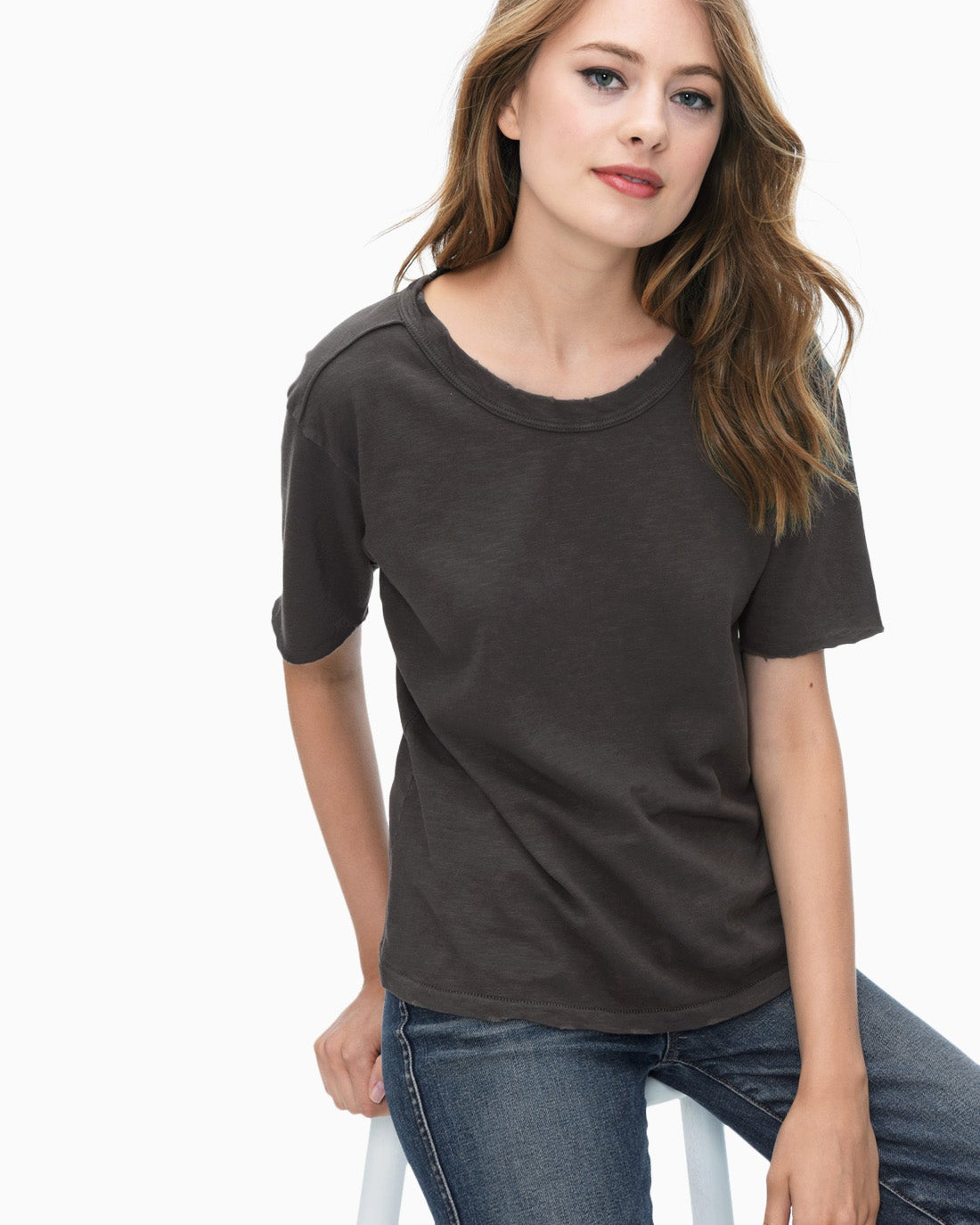 Splendid Women's Cotton Slub Tee Shirt
