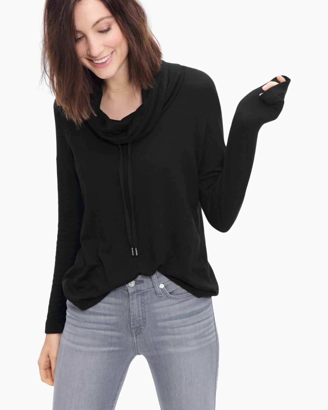 Splendid Women's Super Soft Brushed French Terry Cowl Neck Pullover