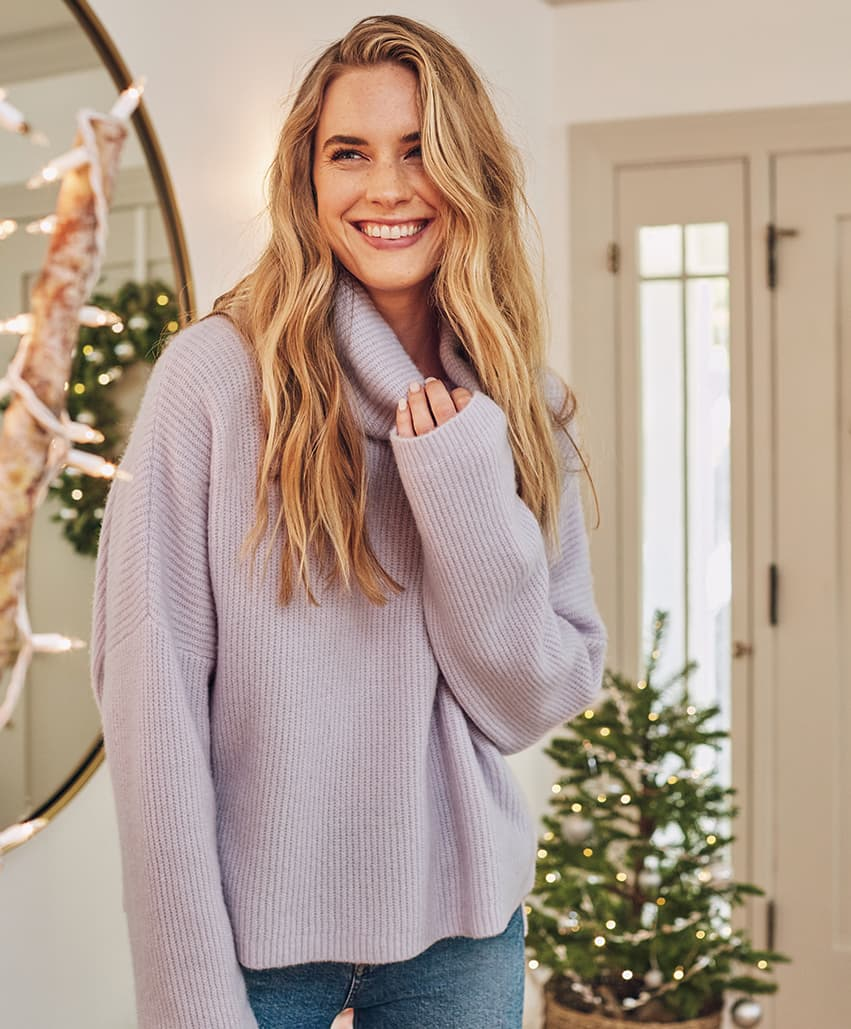 Lodge Funnel Neck Sweater